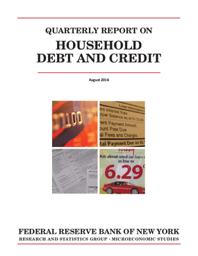 Quarterly Report On Household Debt and Credit