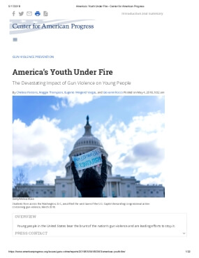 America's Youth Under Fire: The Devastating Impact of Gun Violence on Young People
