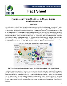 Fact Sheet: Strengthening Financial Resilience to Climate Change - The Role of Insurance