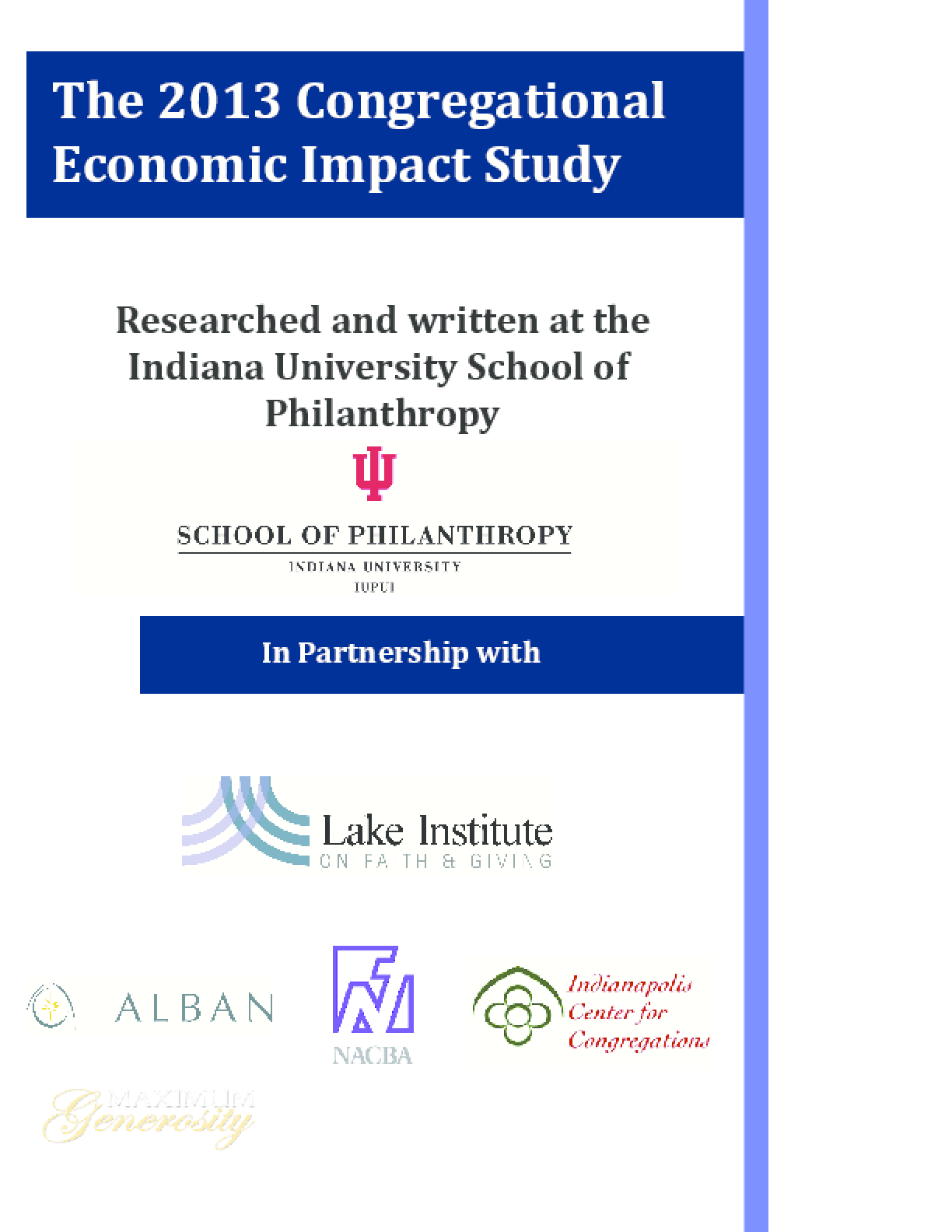 2013 Congregational Economic Impact Study