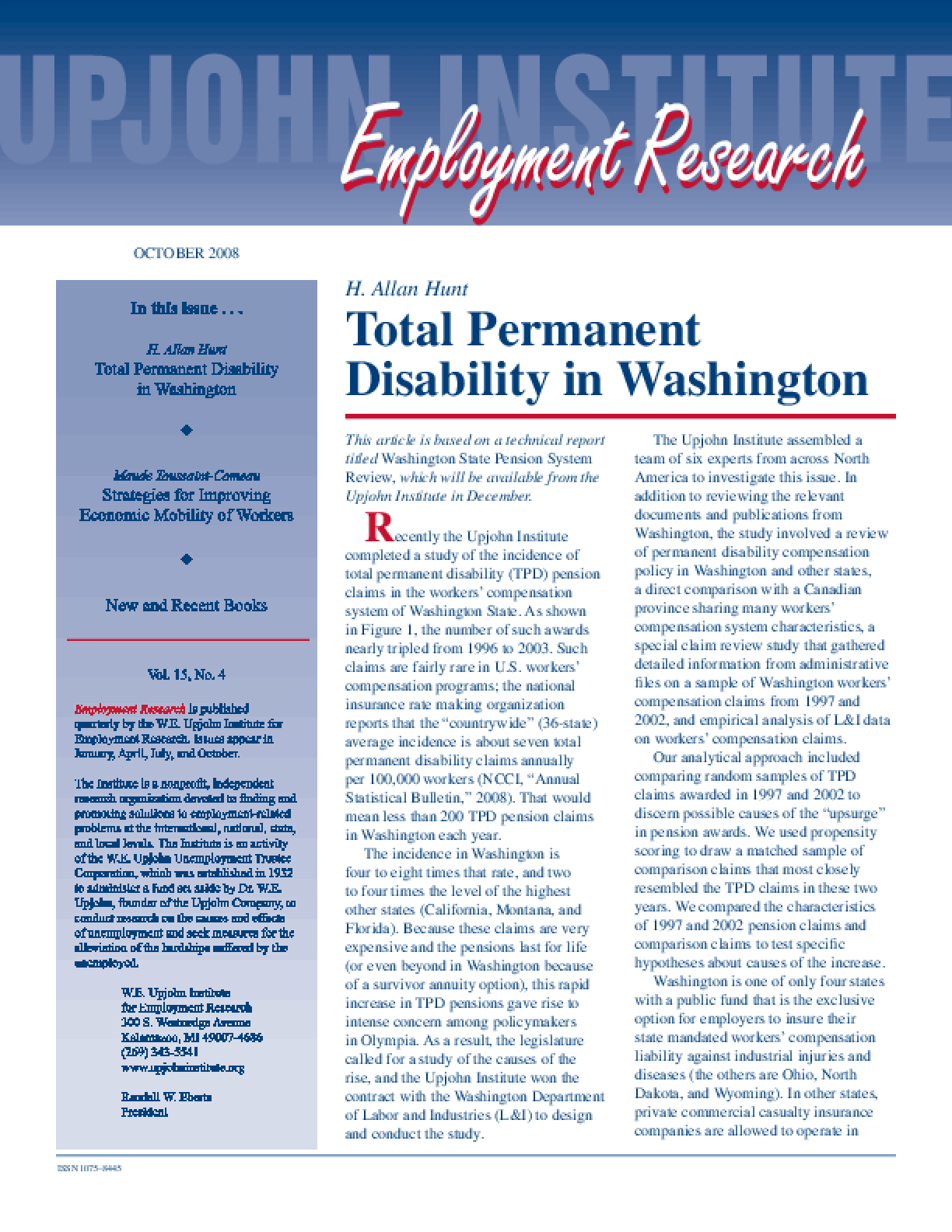 Total Permanent Disability in Washington
