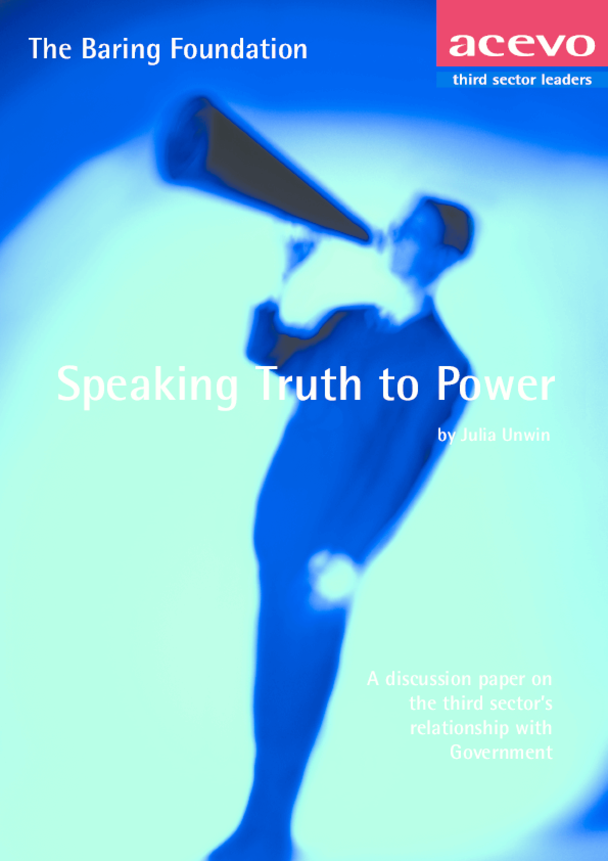 Speaking Truth to Power: A Discussion Paper on the Third Sector's Relationship with Government