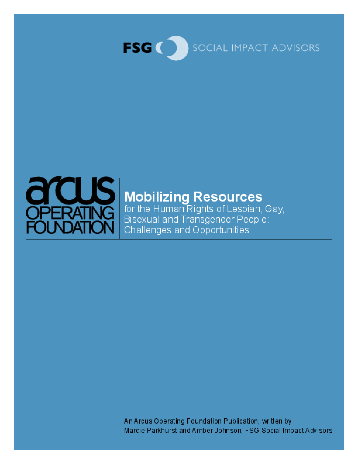 Mobilizing Resources for the Human Rights of Lesbian, Gay, Bisexual and Transgender People: Challenges and Opportunities