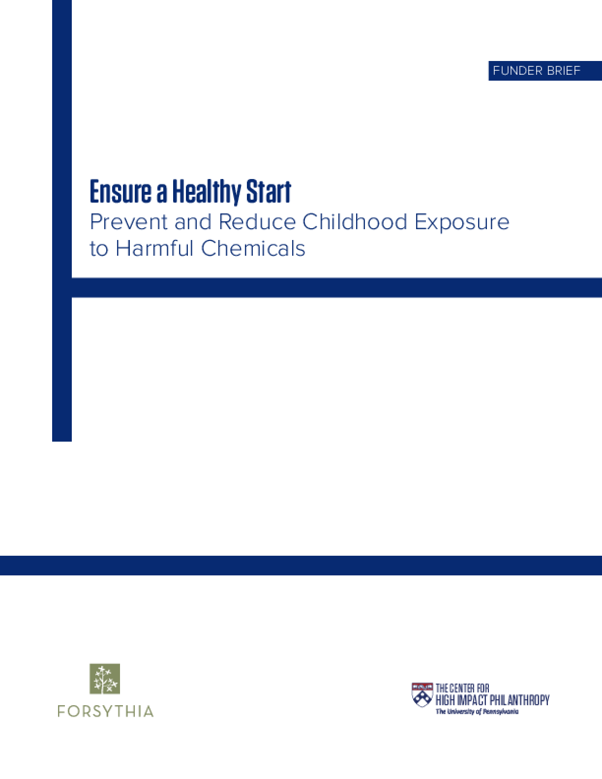 Ensure a Healthy Start: Prevent and Reduce Childhood Exposure to Harmful Chemicals