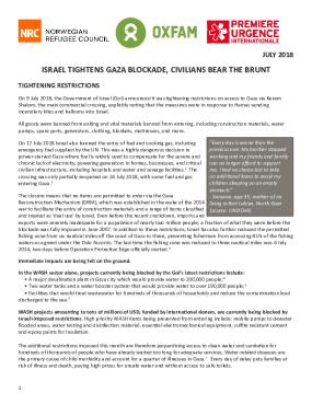 Israel Tightens Gaza Blockade, Civilians Bear the Brunt