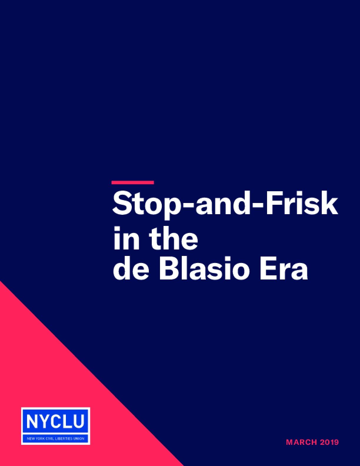 Stop-and-Frisk in the de Blasio Era