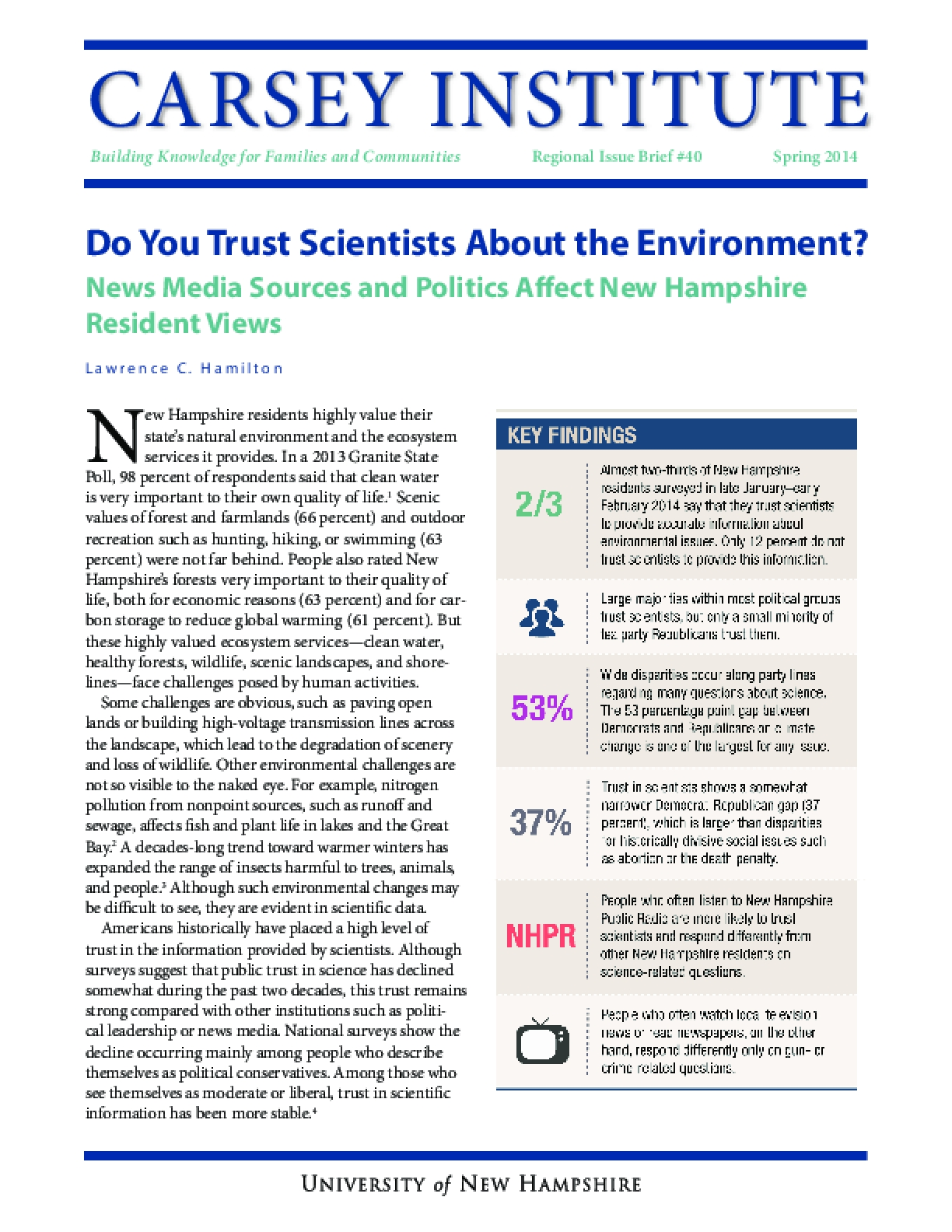 Do You Trust Scientists About the Environment?