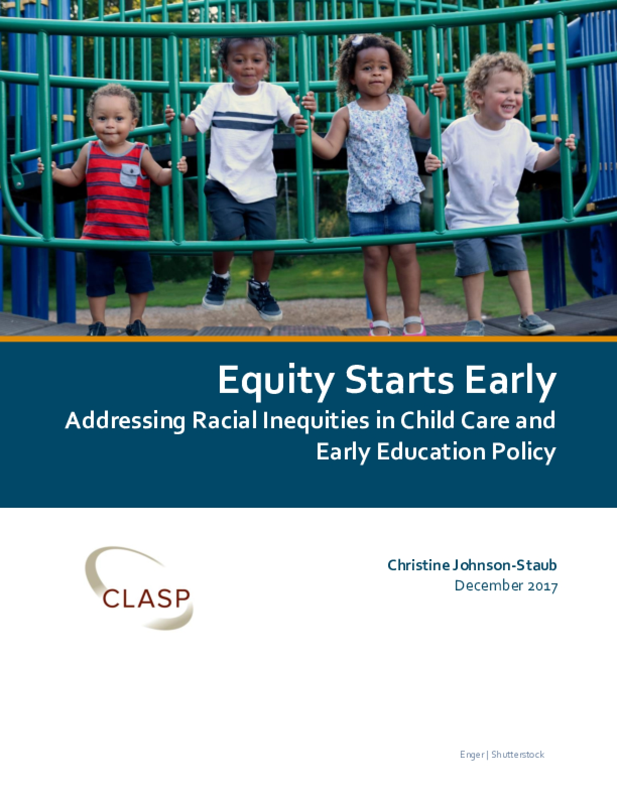 Equity Starts Early: Addressing Racial Inequities in Child Care and Early Education Policy