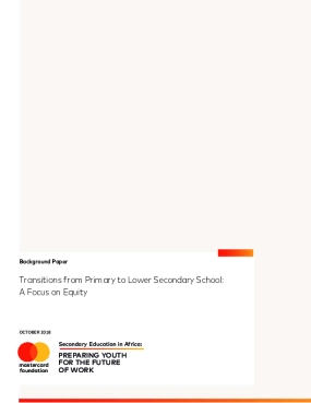 Transitions from Primary to Lower Secondary School: A Focus on Equity